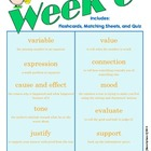 End of Grade (EOG) Vocabulary Week 6 (Common Core)