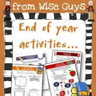 End of School Year Activities Bundle (Seven Creative Ideas