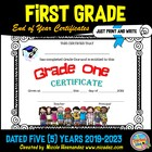 End of School Year Certificates {Grade One}
