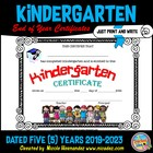 End of School Year Kindergarten Certificates