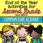 End of Year Activities for 2nd Grade-Common Core Aligned