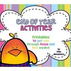 End of Year Activities for any grade level