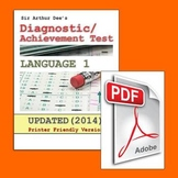 Diagnostic/Achievement Test in Language-1