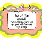 End of Year Class Awards {already made templates + blank a