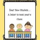 End of Year Letter Template for Incoming Students