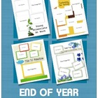 End of Year Scrapbook Picture Pages - MAC Pages Users!