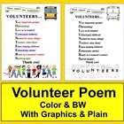 End of Year Volunteer Appreciation Poem-Color & B/W