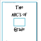 End of the School Year Fun:  The ABCs of My Grade