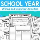 End of the School Year Writing and Grammar Activities