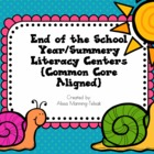 End of the School Year/Summer Literacy Centers {Common Cor