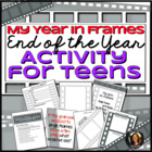 End of the Year Activity and Memory Book for Teens