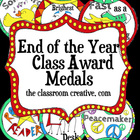 End of the Year Award Medals
