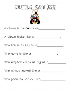 End of the Year Circus Day Freebie!