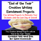 """End of the Year"" Differentiated Creative Writing Project Menu"