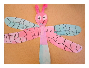 End of the Year Dragonfly Craft Freebie