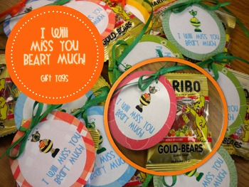 End of the Year Gift Tags {Miss You Beary Much}
