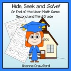 End of the Year - Hide, Seek and Solve Math Game (2nd and