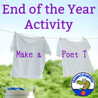End of the Year I Am Poem: Make a Poet T - Shirt Craftivity