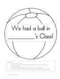 End of the Year Keepsake - We Had a Ball in ___'s Class!