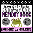 End of the Year Memory Book: Diary of a 2nd Grader