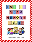 End of the Year Memory Book and Activity Packet