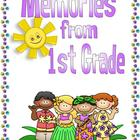 End of the Year Memory Book for First Grade