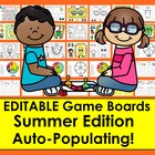 End of the Year or Summer Sight Words Game Boards - First