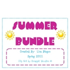 End of the Year/Summer Algebra/Middle School Review Bundle