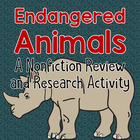 Endangered Animals Literacy Center- Review Nonfiction Standards