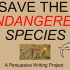 Endangered Species SMARTboard file with Writing Task