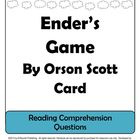 Ender's Game by Orson Scott Reading Comprehension Question