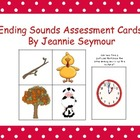 Ending Sounds Assessment Cards