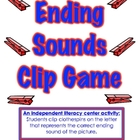 Ending Sounds Clip Game-A Literacy Center Activity