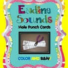 Ending Sounds Hole Punch Cards {COLOR and B/W!}