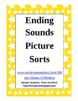 Ending Sounds Picture Sorts