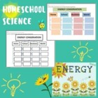 Energy Conservation Graphic Organizer Worksheet