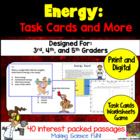 Energy: Science Task Cards and More