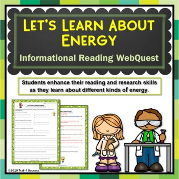 Energy Web Quest Scavenger Hunt Activity Informational Text
