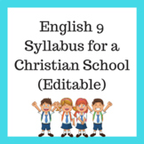 Engish 9 Syllabus Christian School.