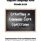 English 9-10 Common Core At-a-Glance, Mastery Checklists,
