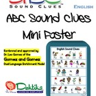 English ABC Sound Clues Mini Poster