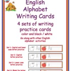 English Alphabet Letter Writing Cards