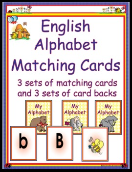 English Alphabet Matching Cards