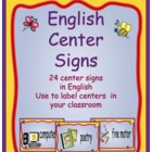 English Center Sign Cards