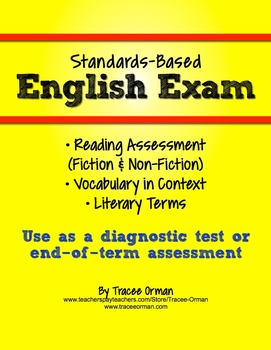 Common Core English Exam Reading and Vocabulary Assessment