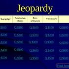 English Jeopardy Game