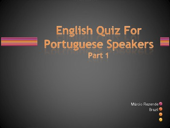 English Quiz For Portuguese Speakers (Part 1)