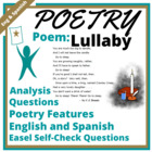 English and Spanish Poem Test Passage and Activities - CC