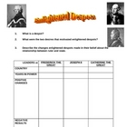 Enlightened Despots Worksheet