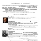 Enlightenment Thinkers (Age of Reason, Locke, Montesquieu,